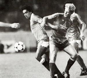 Moizan et les Bleus victorieux du Bayern en 1979