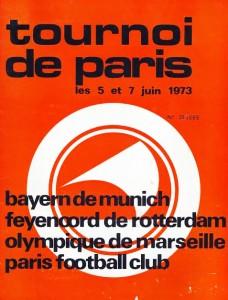 le programme du tournoi de Paris en 1973
