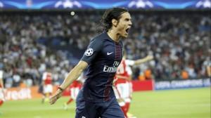 le record pour Cavani en Ligue des champions contre Arsenal