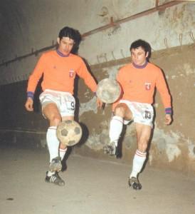 André Guy - ici avec Fleury Di Nallo - 6 matches avec Lyon en 1968-1969