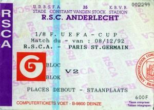 Anderlecht-PSG, l'un des premiers déplacements en masse pour les supporters parisiens