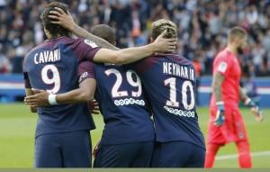 plus de trois buts en moyenne en 2017 pour le PSG au Parc des Princes