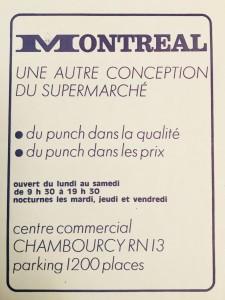 la pub pour les supermarchés Montréal !