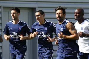 Trois des quatre buteurs argentins à plus de 30 buts : Pastore, Di Maria et Lavezzi