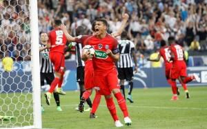 le PSG de Thiago Silva face à Angers lors de la victoire en Coupe de France