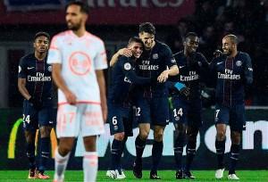 5-0 pour le PSG face à Lorient en 2016