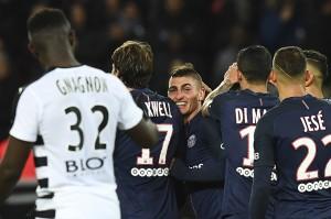 la joie de Verratti contre Rennes