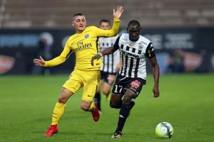 Verratti contre Angers lors de la victoire parisienne 5-0