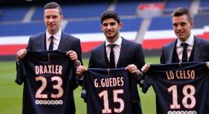 Draxler, Guedes et Lo Celso : la triplette du mercato 2017