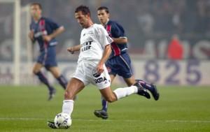 Le Roux avec Guingamp en 2002 face à Paris