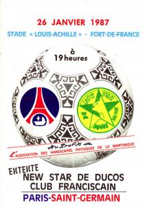 Le PSG sous le soleil de la Martinique en 1987...