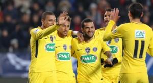 la joie des Parisiens, 4-0 à  la pause