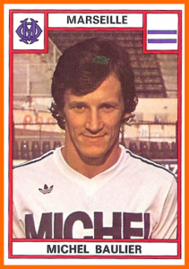 Michel Baulier, le premier... (photo old school panini)