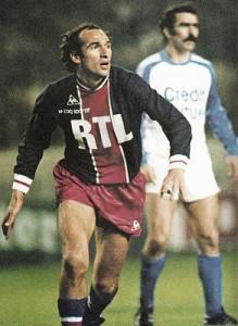 Carlos Bianchi, buteur face au Strasbourg de Domenech en 1979