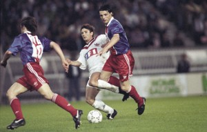 Laurent Fournier face à Bordeaux en 1993