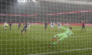 le 199eme penalty  marqué en première division pour Cavani déjà contre Guingamp