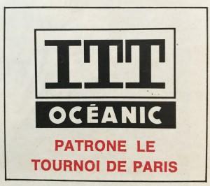 ITT Océanic patrone le tournoi de Paris, avec une belle faute d'orthographe en plus !