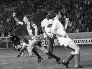la joie de Jean-Pierre Dogliani, héros du match face à Valenciennes