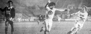 Kist, avec Didier Six, victorieux du PSG de Gérard Janvion