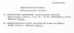 10 juin 1970 : protocole de fusion adopté