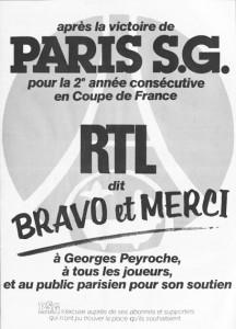 RTL partenaire historique du PSG
