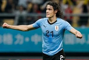 Cavani, 4 buts en Coupes du monde