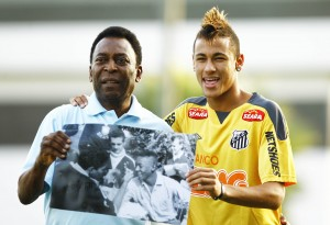 Pelé et son héritier : un certain Neymar...