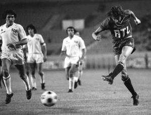 Jean-Pierre Dogliani lors du premier match du PSG contre Angers en 1974
