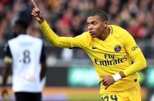 Deux doublés la saison dernière pour Mbappé face à Angers