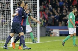 Ibrahimovic-Cavani, 24 buts pour le duo face aux Verts
