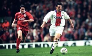 Laurent Fournier à l'assaut des buts des Reds