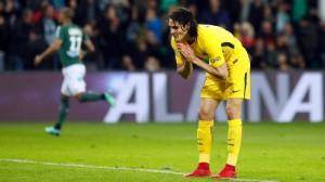 la fin de la série de 9 succès la saison dernière à Saint-Etienne (1-1)