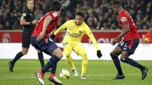 Neymar, buteur la saison dernière à Lille (3-0)