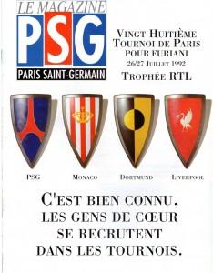 l'affiche du tournoi de Paris 1992