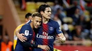 Neymar et Cavani, buteurs à Monaco