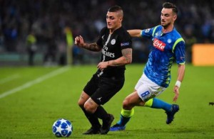 Marco Verratti en action face à Naples