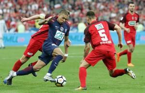 Kylian Mbappé en finale la saison dernière face aux Herbiers