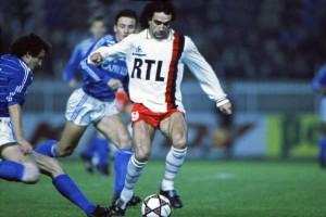 Rocheteau, meilleur buteur du PSG face à Strasbourg