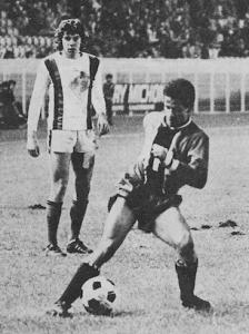 Guy Nosibor en action contre Nice en 1975