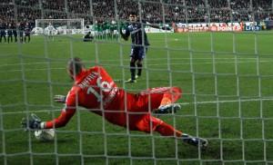 l'échec pour Thiago Silva en Coupe de la Ligue avec le PSG face aux Verts