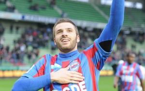 Thomas Heurteaux, dernier buteur de Caen à domicile face au PSG en championnat