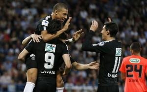 la joie du PSG la saison dernière face à Caen