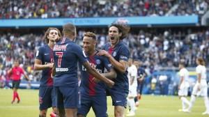 Neymar, buteur face à Angers en début de saison