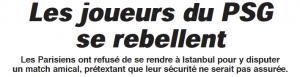 le titre de l'Equipe après le refus des Parisiens