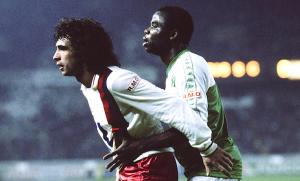 Rocheteau buteur face à Boli et Auxerre en 1985