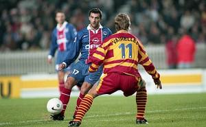 Algerino face à Lens en 1998