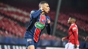 Kylian Mbappé double buteur cette saison à Brest en Coupe de France