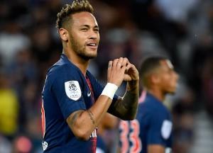 la joie de Neymar face à Caen