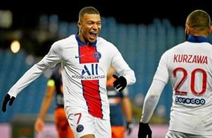 Mbappé, meilleur buteur du PSG face à Montpellier